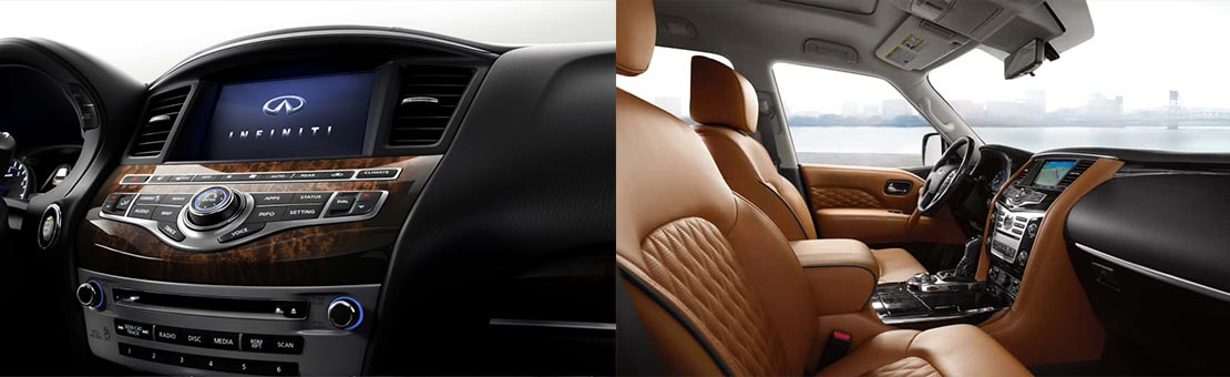 Infiniti QX60 and QX80 Interior views