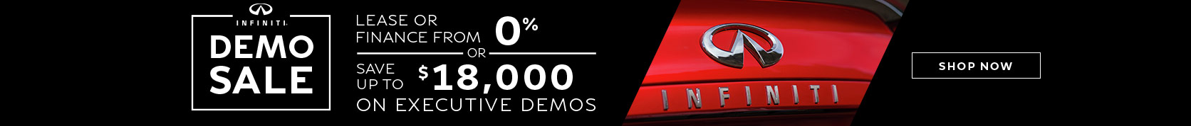 INFINITI Demo Sale incentive