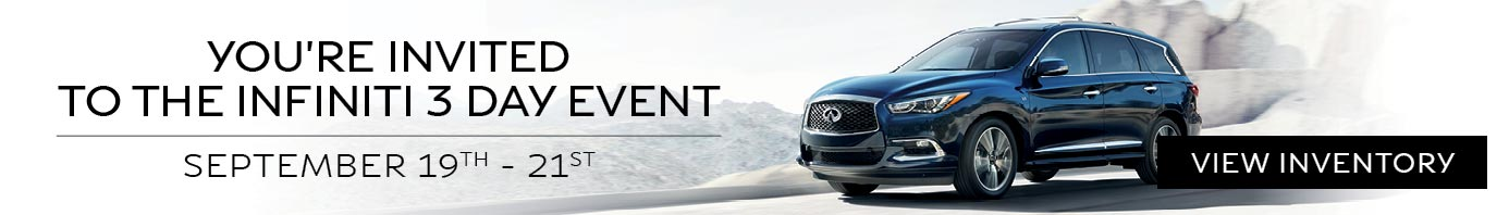 Infiniti 3 Day Private Sale Event