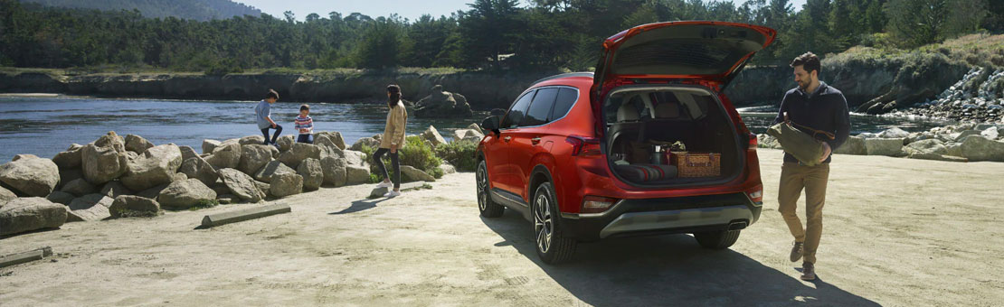 2020 hyundai santa fe set up for camping