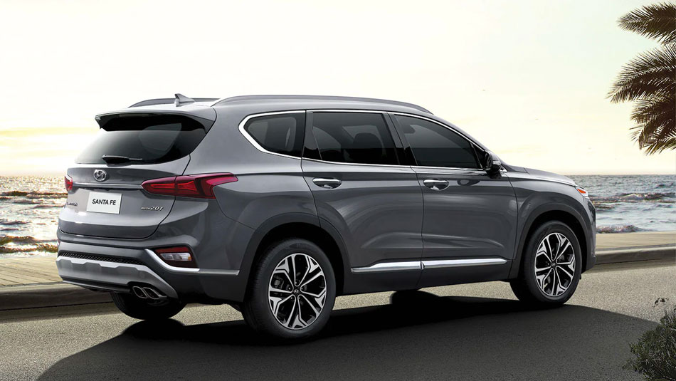 exterior of the 2020 hyundai santa fe