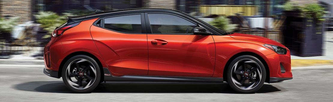 Side view of a 2020 Hyundai Veloster