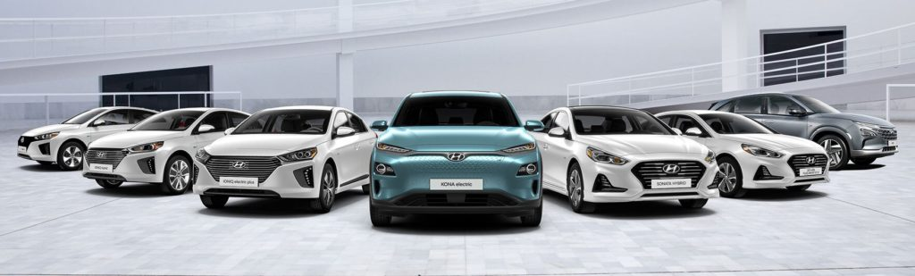 the Hyundai electric and hybrid vehicle lineup