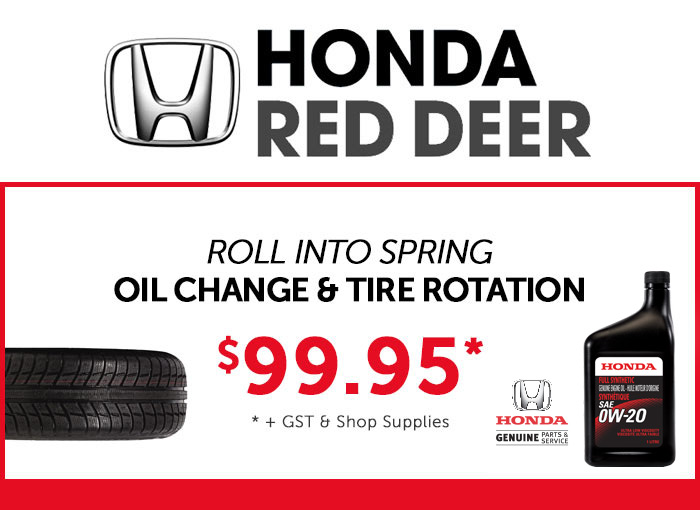 Honda Red Deer Oil Change and Tire rotation special