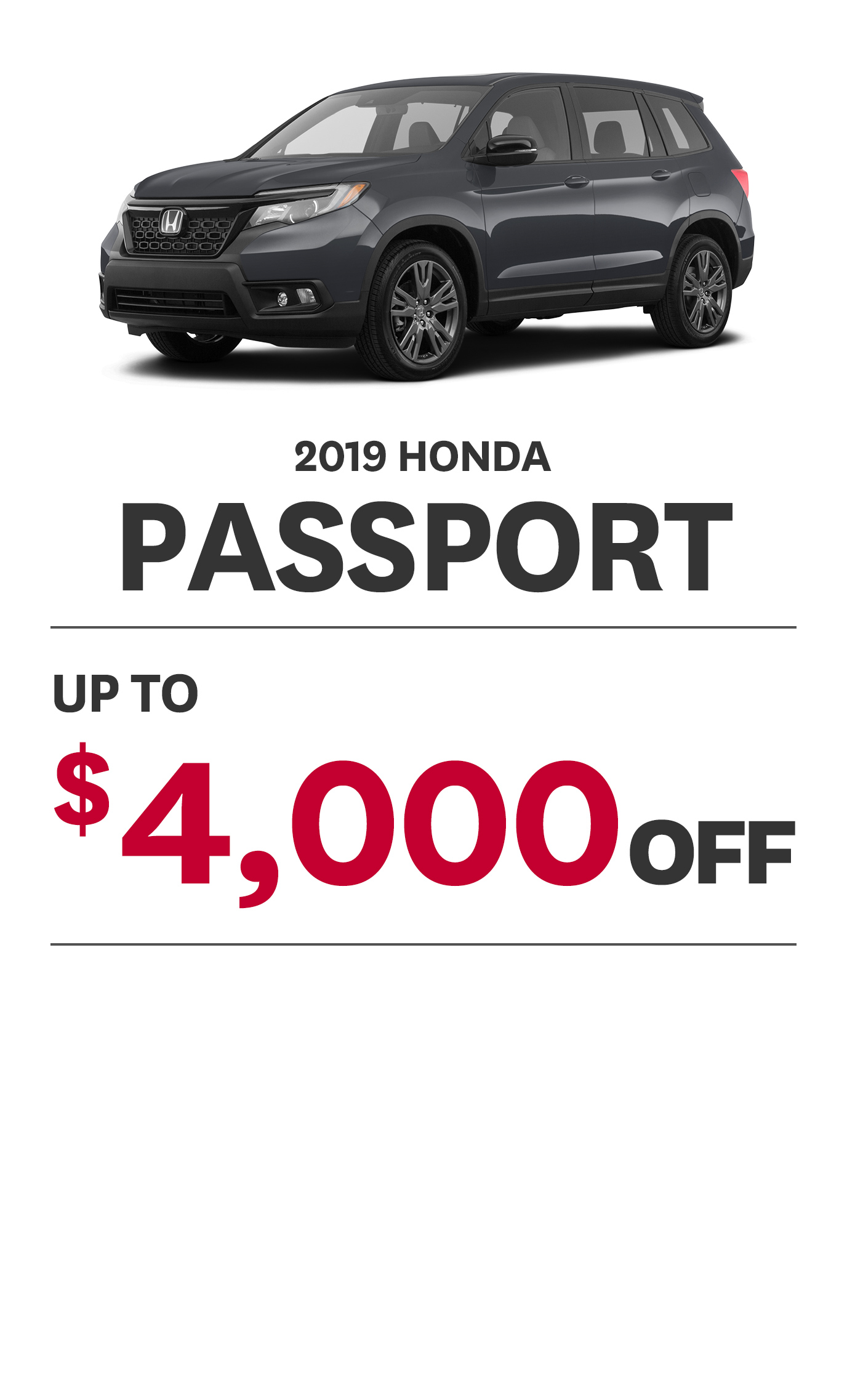2019 Passport Offer