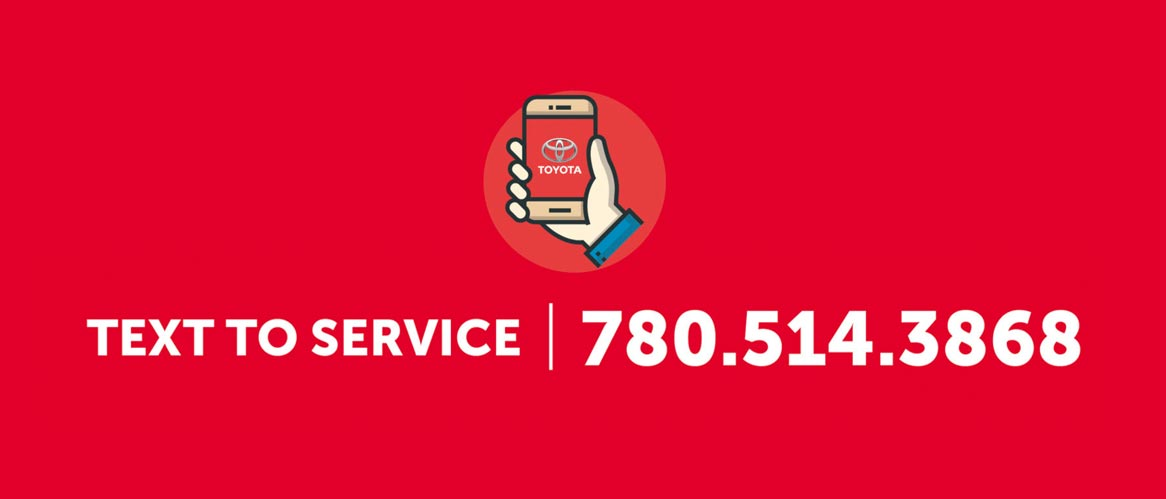 Text service only at Drayton Valley Toyota