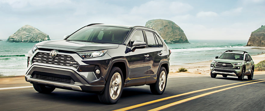 2020 Rav4 In Magnetic Grey And Lunar Rock