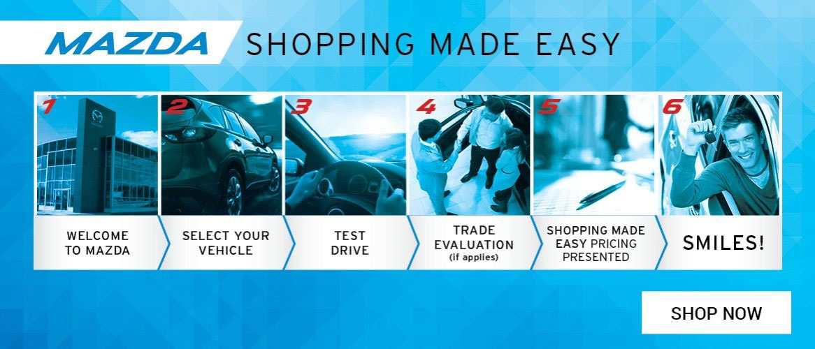 mazda shopping button