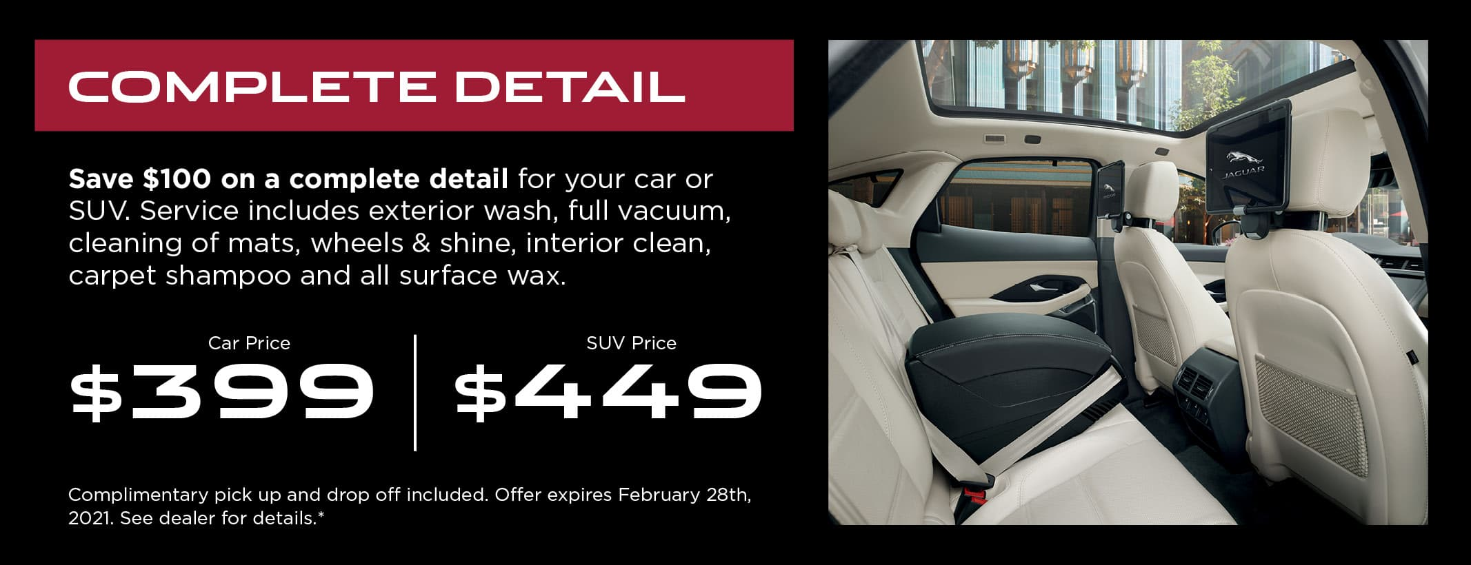 JLRL Service Detailing Offer Coupon Graphic