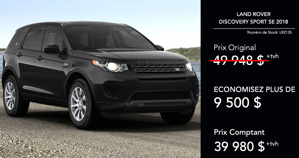 2018 Discovery Sport SE offer