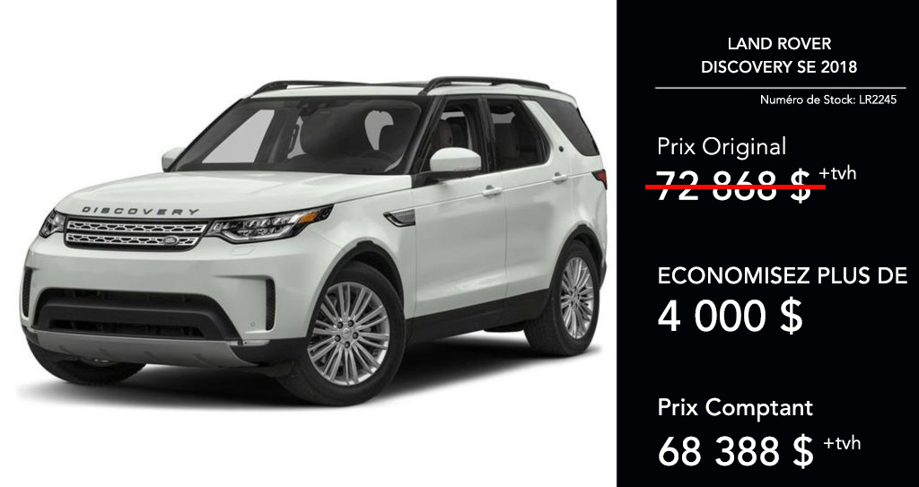 2018 Discovery SE offer