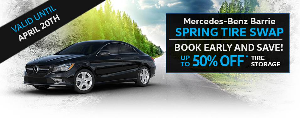 Mercedes-Benz Barrie Spring Tire Event - Save up to 50% on Wheel Alignment when you Swap your Tires before April 20, 2019. Book Today!