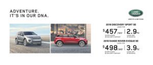 Adventure is in our DNA Slide Presenting the Range Rover Evoque