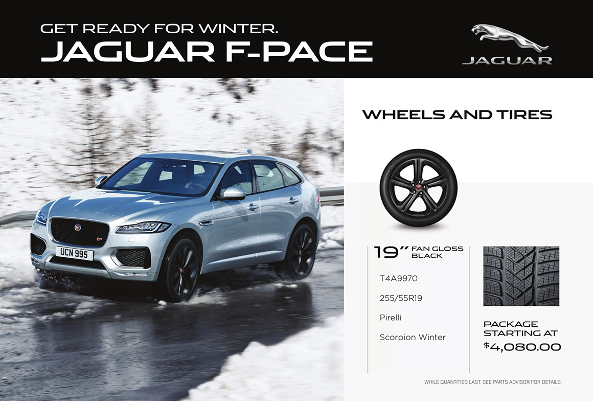 Jaguar F-PACE wheels and tires