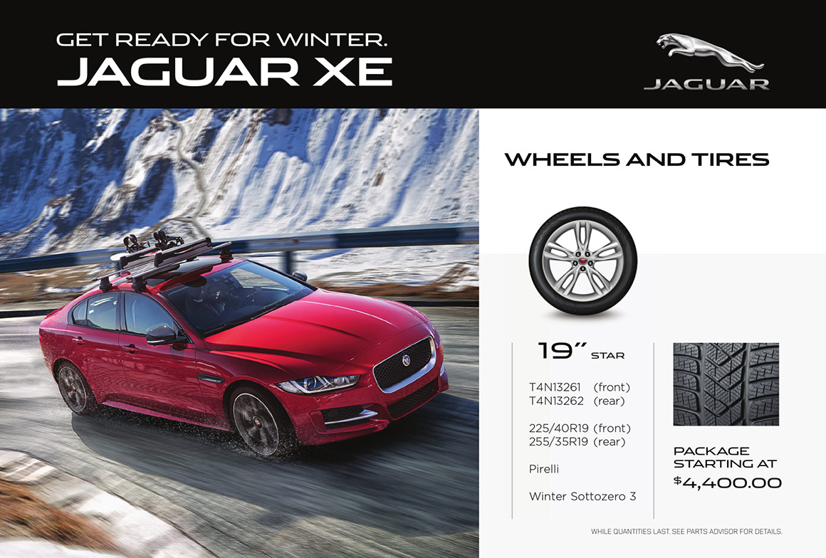 Jaguar XE wheels and tires