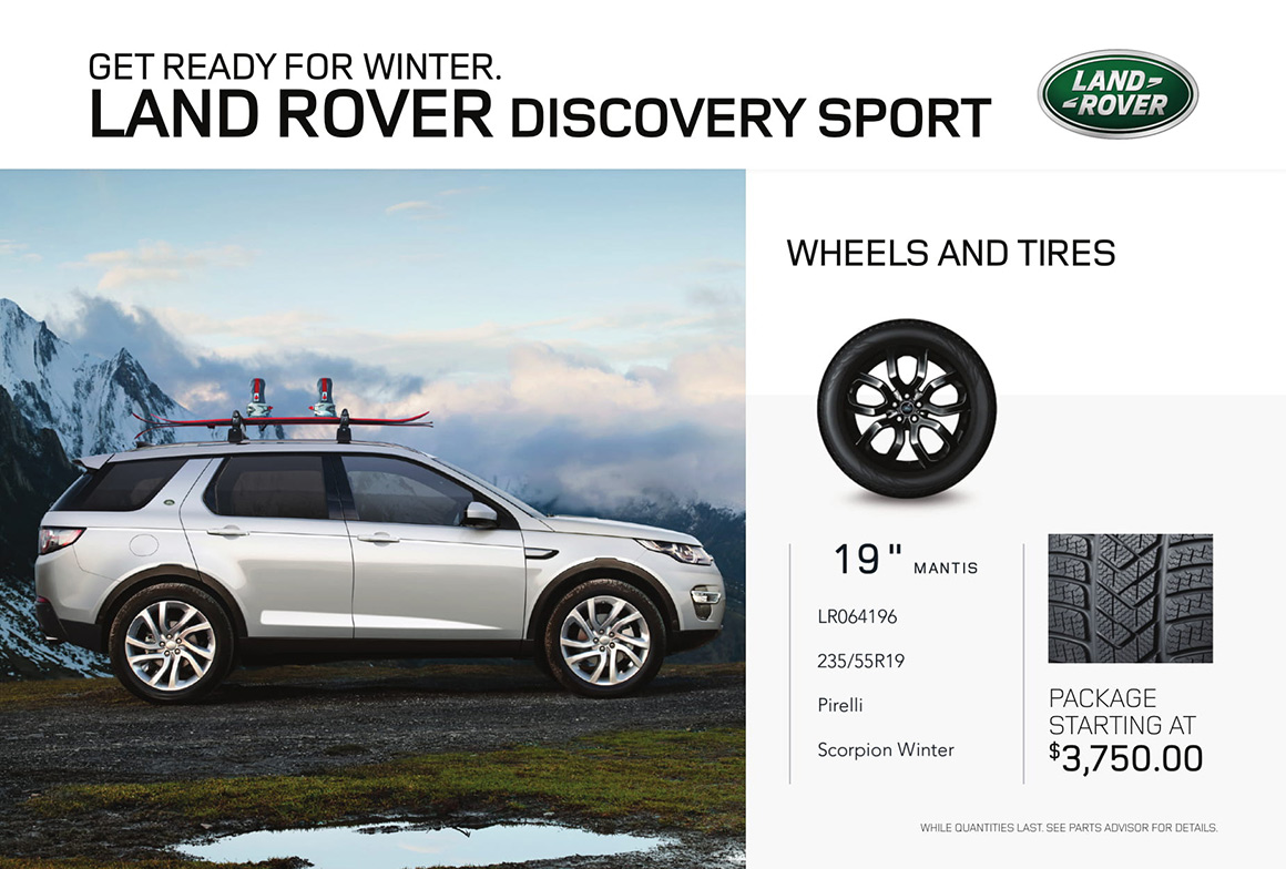 Discovery Sport tires offer