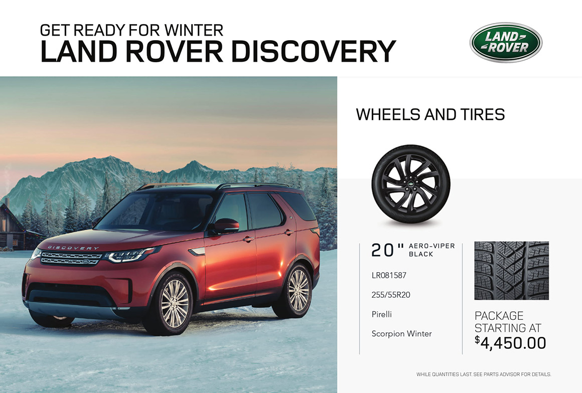 Land Rover Discovery tire offer