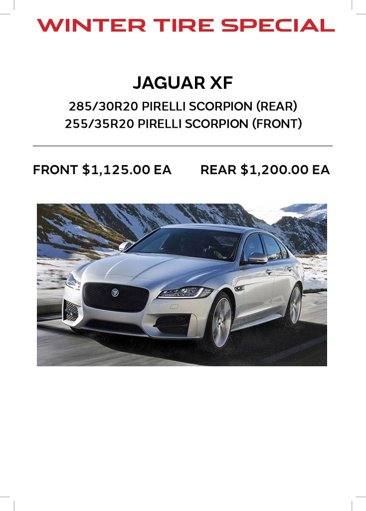 Jaguar XF Tire Offer