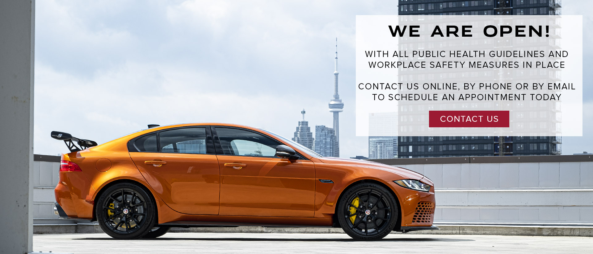 Jaguar Covid Open By Appointment Only