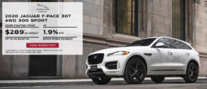 2-2- F-Pace Lease at $289 biweekly