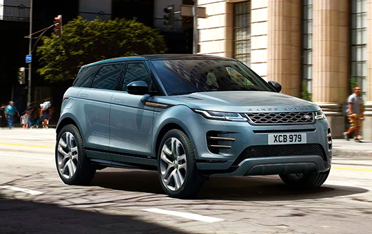 3/4 View of the New Land Rover Evoque