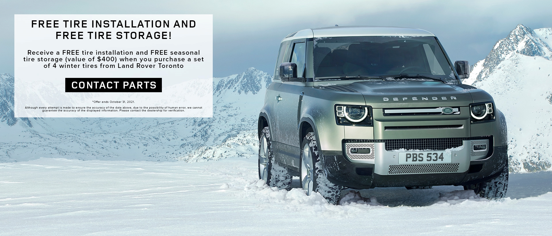 Land Rover Toronto Main Banner Parts Offer Compressed