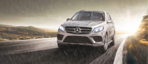 Silver 2019 GLE Driving in the rain