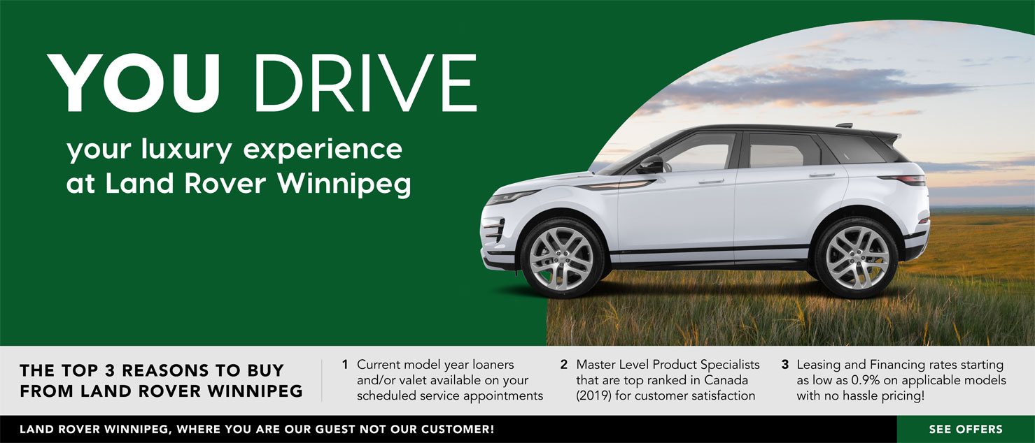 You Drive with Land Rover Winnipeg