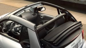 smart cabrio removeable roof bars