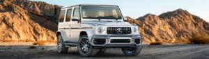 White 2019 G-Class front view