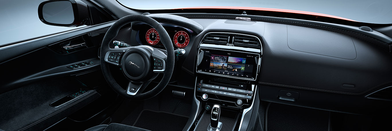 The interior of the Jaguar XE SV Project 8