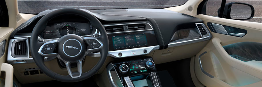 the infotainment system inside a Jaguar I-PACE