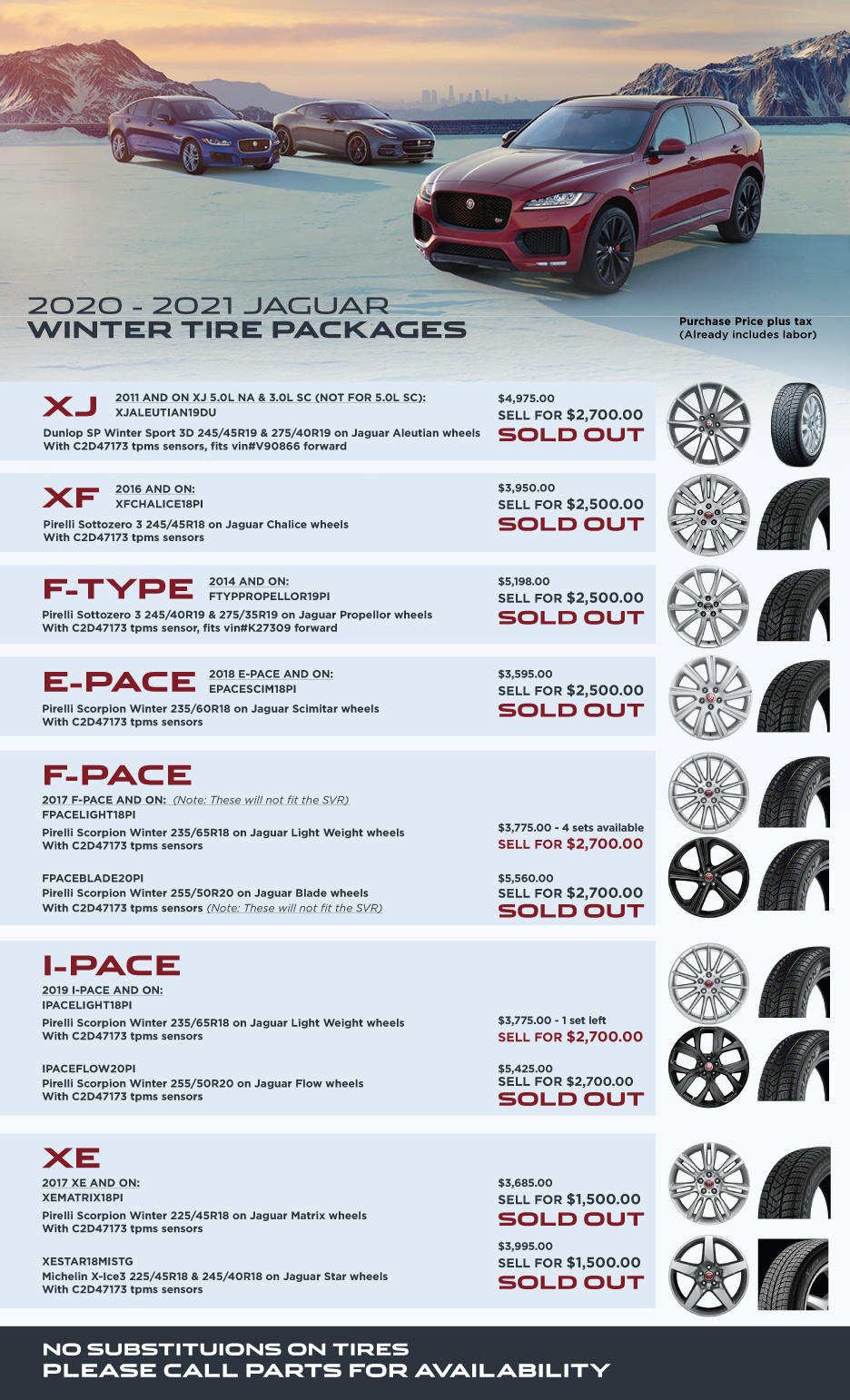 Jag Winter Tire Chart Dec 2020