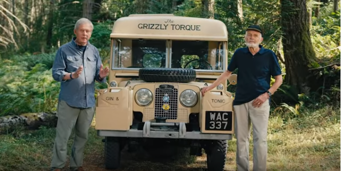 Bristol Foster and Robert Bateman standing by the Grizzly Torque