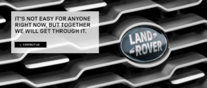 Land Rover Covid19 Message