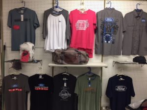 Ford shirt wall