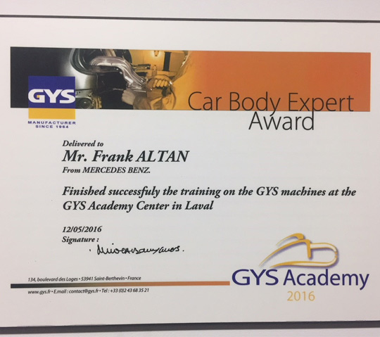 car body expert award