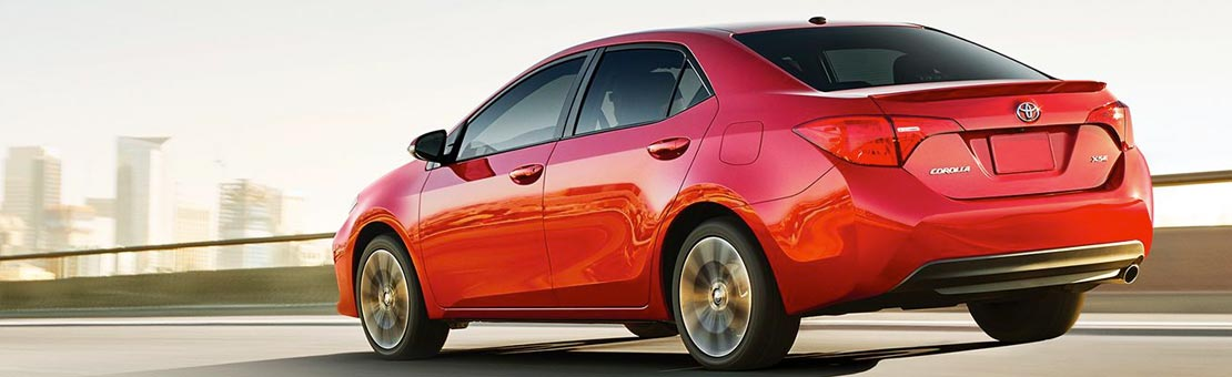 Corolla SE with XSE Package shown in Barcelona Red Metallic