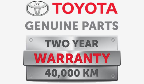 Genuine Toyota Parts Warranty Logo