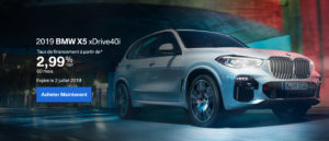 June 2019 BMW X5 OEM Offer French