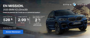 X3 Drive30i Special Offer (fr)