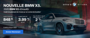 X5 Drive30i Special Offer (fr)