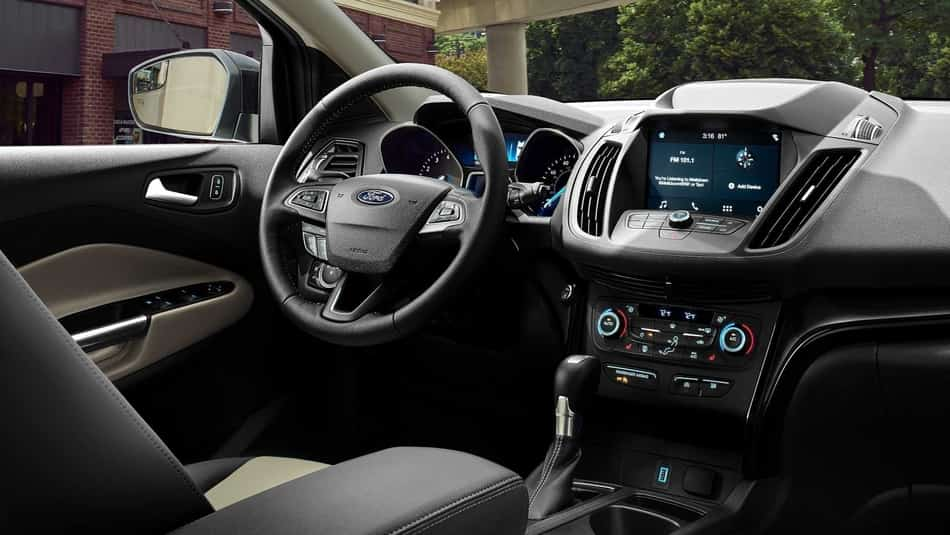 2019 Ford Escape SEL interior in SPort Appearance Package with Active X seats