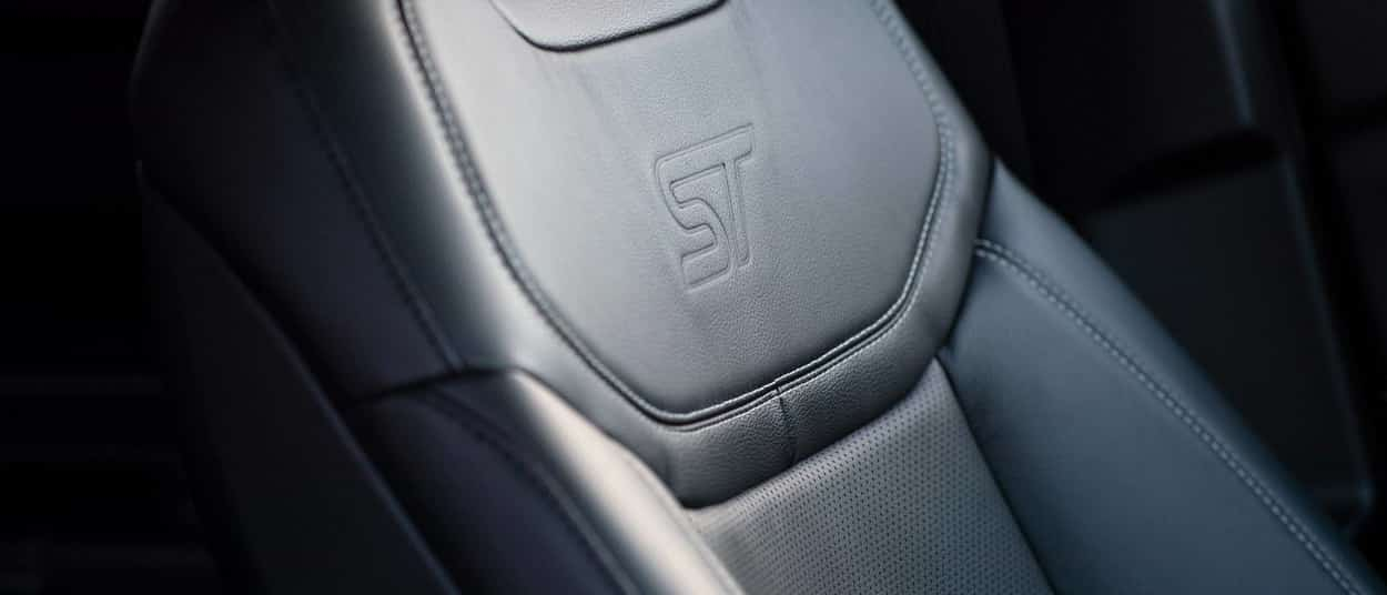 ST embroidery in leather seat for 2020 Ford Explorer