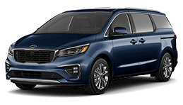 Dark Blue Kia Minivan Model