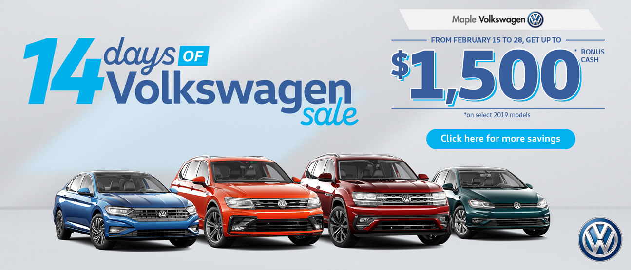 February Volkswagen offer