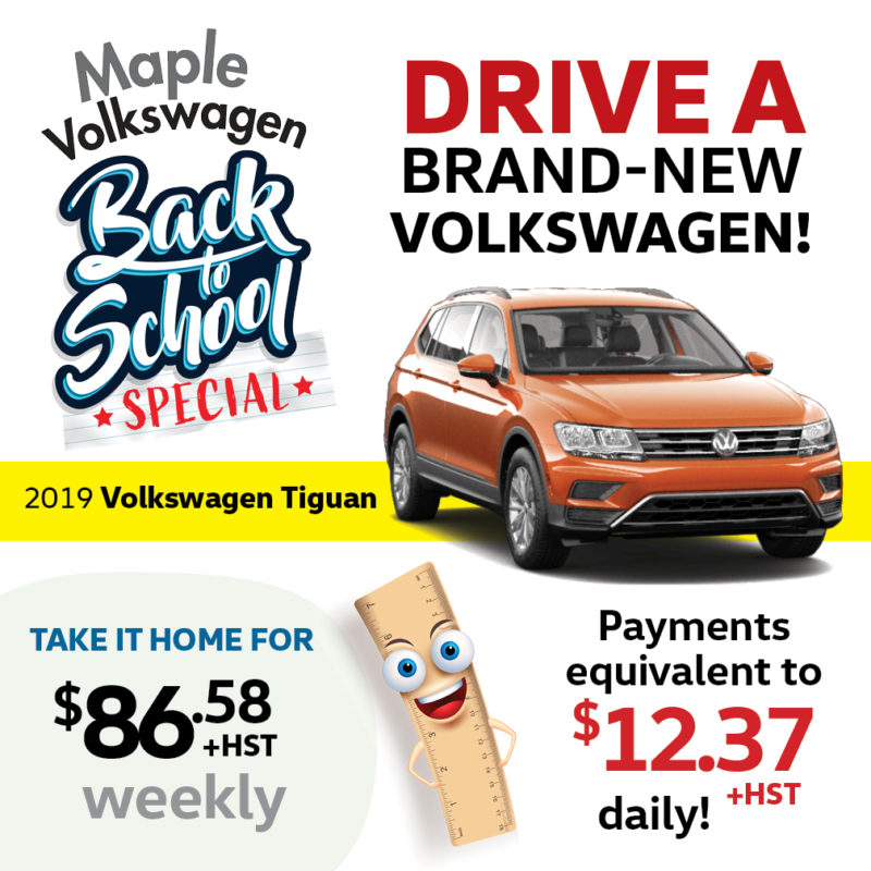 Volkswagen Tiguan featured in the back to school special