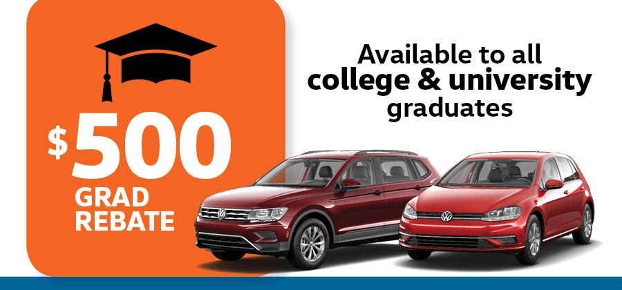 Graduation Rebate being offered at Maple Volkswagen