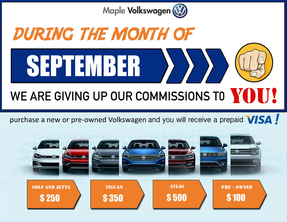 Maple Volkswagen Commission Sale