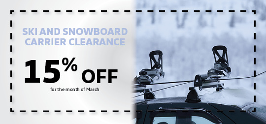 Ski and Snowboard Clearance 15% off